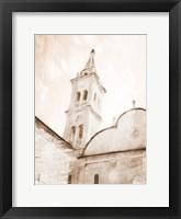 Framed Look At The Church Sepia