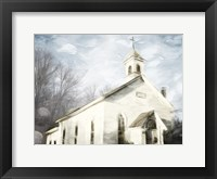 Framed Front Of The Church
