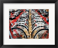 Framed Red Bikes