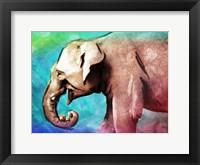Framed Bright Elephant