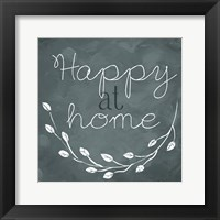 Framed Happy At Home