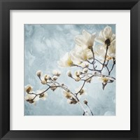 Framed Tree Of White Flowers