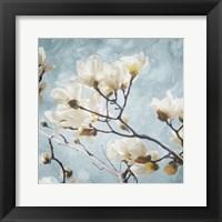 Framed Tree Of White Flowers Mate