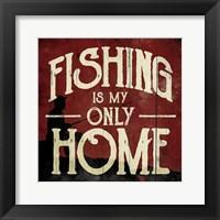 Framed Fishing Home