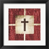 Framed Cross On the Words