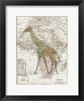 Framed Safari Map 2