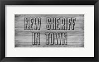 Framed New Sheriff