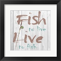 Framed Fish to Live