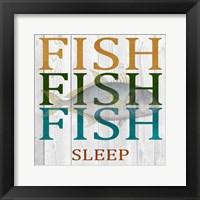 Framed Fish Fish Fish