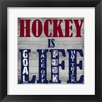 Hockey Life Framed Print