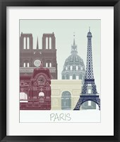 Framed Paris Skyline