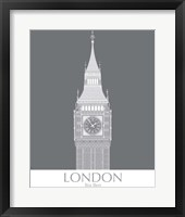 Framed London Big Ben Monochrome
