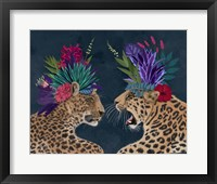 Framed Hot House Leopards, Pair, Dark