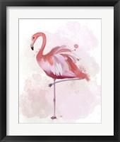 Framed Fluffy Flamingo 4