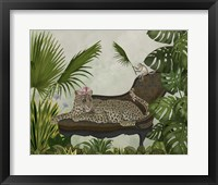 Framed Leopard Chaise Longue