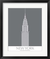 Framed New York Chrysler Building Monochrome