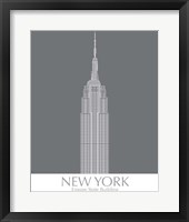 Framed New York Empire State Building Monochrome