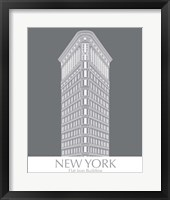 Framed New York Flat Iron Building Monochrome