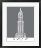 Framed New York Woolworth Building Monochrome