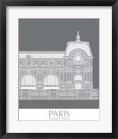 Framed Paris Musee Dorsay Monochrome