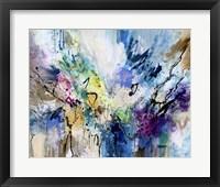 Framed Rainbow Blue V