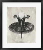 Framed Black Ballet Dress II