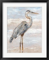 Framed Beach Heron I