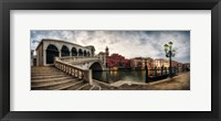 Framed Rialto - Grand Canal Panorama