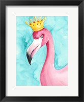 Framed Flamingo Queen I