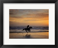 Framed Sunkissed Horses IV