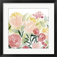 Framed Sunkissed Posies I