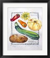 Framed Kitchen Veggies II