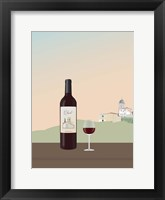 Framed Tuscan Wine I