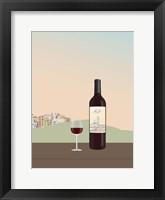 Framed Tuscan Wine II