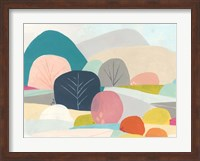 Framed Meadow Whimsy I