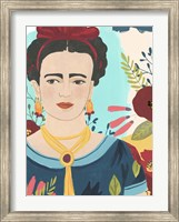 Framed Frida's Garden I