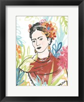 Framed Portrait of Frida  I