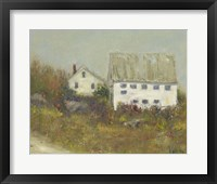 Framed White Barn II