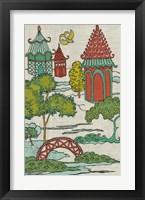 Framed Pagoda Landscape I