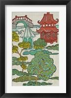 Framed Pagoda Landscape II