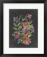 Framed Velvet Floral II