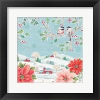 Framed Country Poinsettias VI
