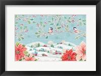 Framed Country Poinsettias IV