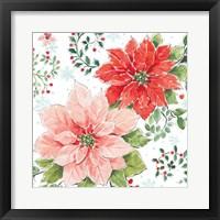 Framed Country Poinsettias II