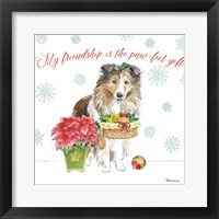 Framed Holiday Paws III
