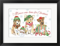 Framed Holiday Paws I