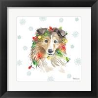 Framed Holiday Paws IX