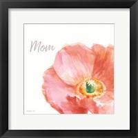 Framed Garden Poppy Flipped on White Crop II Mom