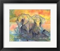 Framed Elephants Crop