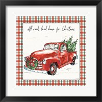 Framed Holiday on the Farm VI Plaid